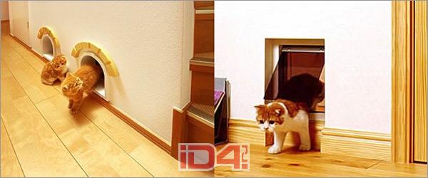 Как сделать вход для кошки в двери